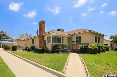 Burbank Single Family Home Active Under Contract: 3158 North Naomi Street