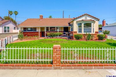 Burbank Single Family Home For Sale: 1118 North Sparks Street