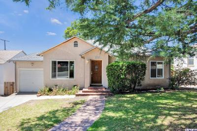 La Crescenta Single Family Home For Sale: 3328 Stevens Street