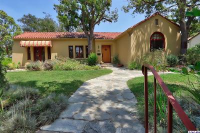 Pasadena Single Family Home For Sale: 600 South Arroyo Boulevard
