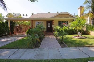 Glendale Single Family Home For Sale: 1261 Allen Avenue