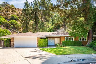 La Canada Flintridge Single Family Home Active Under Contract: 2003 Derwood Drive
