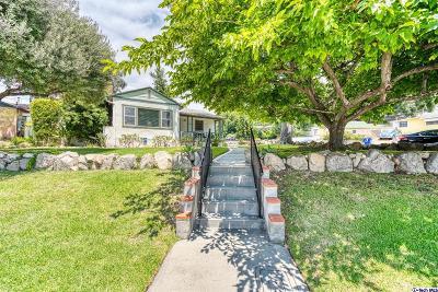 La Crescenta Single Family Home Active Under Contract: 2747 Community Avenue