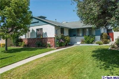 Burbank Single Family Home For Sale: 2809 North Frederic Street