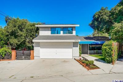 La Crescenta Single Family Home Active Under Contract: 3439 Altura Avenue