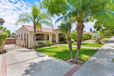 Glendale Single Family Home For Sale: 514 Monte Vista Avenue