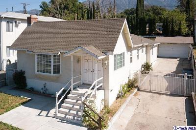 Glendale Single Family Home For Sale: 3243 Honolulu Avenue