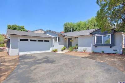 Glendale Single Family Home Active Under Contract: 3711 El Moreno Street