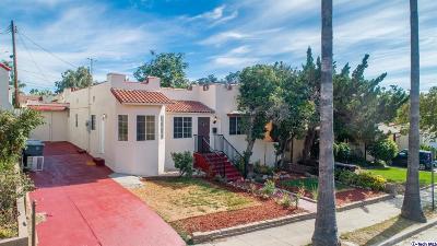 Glendale Single Family Home For Sale: 1414 East Acacia Avenue