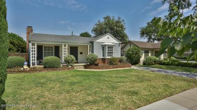Pasadena Single Family Home For Sale: 480 Castano Avenue