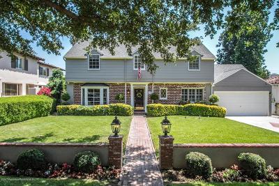San Marino Single Family Home For Sale: 1186 Adair Street