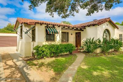 Pasadena Single Family Home For Sale: 1119 Bella Vista Avenue
