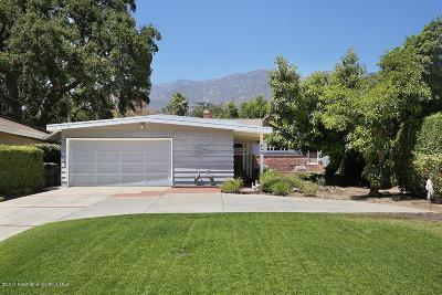 Sierra Madre Single Family Home For Sale: 645 West Orange Grove Avenue