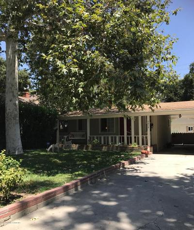 Glendale Single Family Home For Sale: 3019 Sycamore Avenue