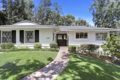 Pasadena Single Family Home For Sale: 1580 Knollwood Terrace