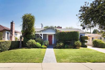 Pasadena Single Family Home For Sale: 1670 Kenneth Way