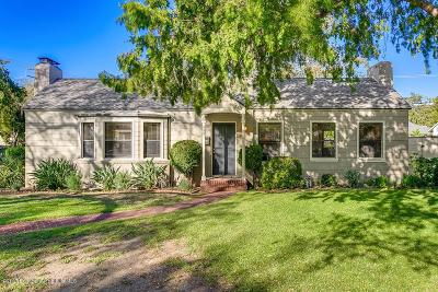 Pasadena Single Family Home For Sale: 545 North Sunnyslope Ave Avenue