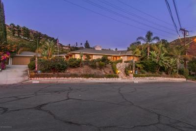 Glendale Single Family Home For Sale: 2460 Las Positas Road