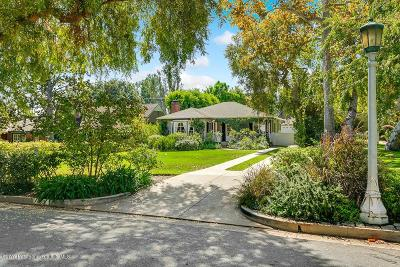 Pasadena Single Family Home For Sale: 159 San Miguel Road