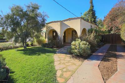 Pasadena Single Family Home For Sale: 1153 North Hudson Avenue