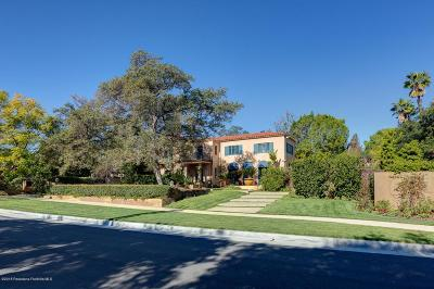 San Marino Single Family Home For Sale: 1470 Circle Drive