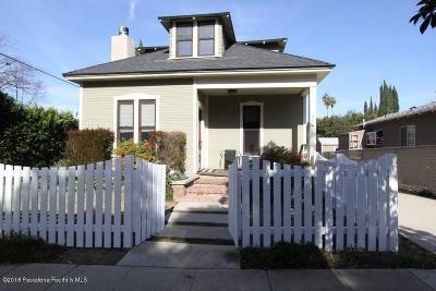 South Pasadena Single Family Home For Sale: 712 Hawthorne Street