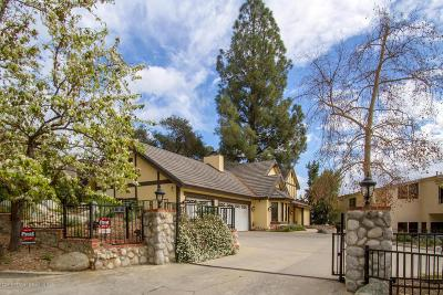 Sierra Madre Single Family Home For Sale: 700 Oak Crest Drive