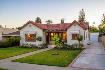 San Marino Single Family Home For Sale: 1745 Hilliard Drive