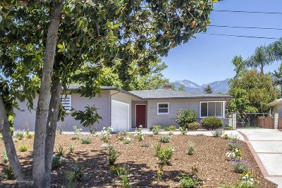 Pasadena Single Family Home For Sale: 3175 Sunnyslope Boulevard