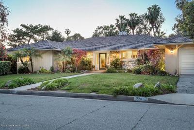 Pasadena Single Family Home For Sale: 775 San Rafael Terrace