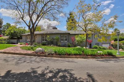 Pasadena Single Family Home For Sale: 140 Sierra View Road