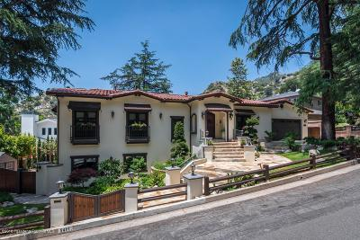 La Canada Flintridge Single Family Home For Sale: 5401 Palm Drive