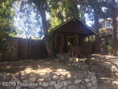 Sierra Madre Single Family Home For Sale: 11 North Mountain