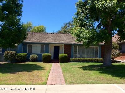 San Marino Single Family Home For Sale: 1305 Belhaven Road