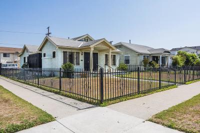 Los Angeles Single Family Home For Sale: 1867 West 42nd Street