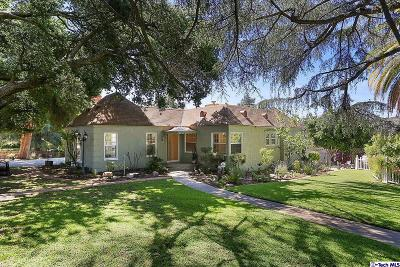 La Canada Flintridge CA Single Family Home For Sale: $1,390,000