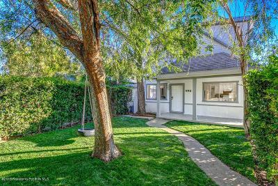 Pasadena Single Family Home For Sale: 996 Bell Street