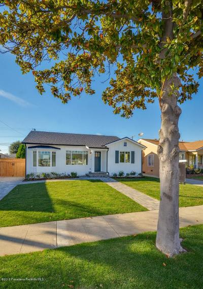 Burbank Single Family Home For Sale: 1725 North Fairview Street
