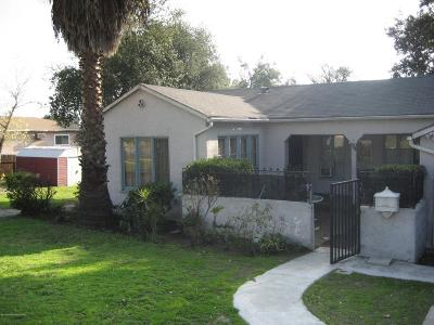 Altadena Single Family Home For Sale: 148 West Manor Street North
