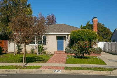 Woodland Hills Single Family Home For Sale: 22035 Galvez Street