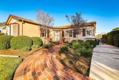 Pasadena Single Family Home For Sale: 1580 Coolidge Avenue