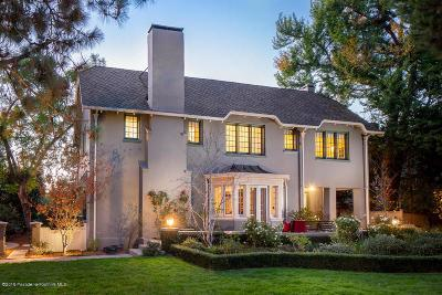 Pasadena Single Family Home Active Under Contract: 1047 South Madison Avenue