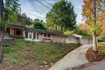 La Canada Flintridge Single Family Home Active Under Contract: 1050 Stratford Drive