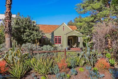 Pasadena Single Family Home Active Under Contract: 1421 Monte Vista Street