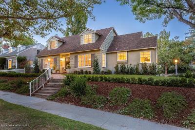 Pasadena Single Family Home For Sale: 1483 La Loma Road