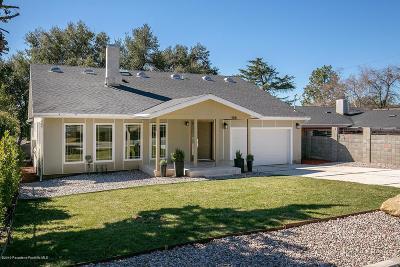 Altadena Single Family Home For Sale: 168 East Palm Street
