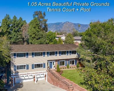 San Marino Single Family Home For Sale: 1203 Sierra Madre Boulevard
