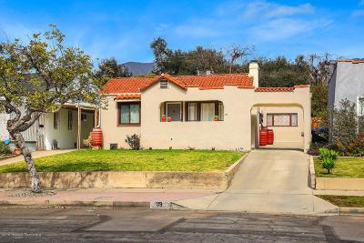Altadena Single Family Home Active Under Contract: 39 West Mendocino Street