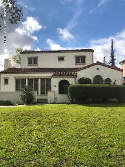 Pasadena Single Family Home For Sale: 2330 East Orange Grove Boulevard
