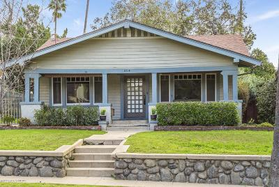 Pasadena Single Family Home Active Under Contract: 1014 Palm Terrace
